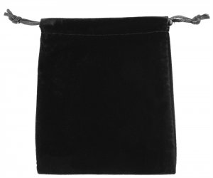 Schmuckbeutel Schwarz dicker Samt 10x12 cm
