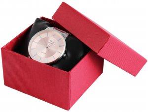 Uhrenbox Karton Rot 7,5x8,5 cm