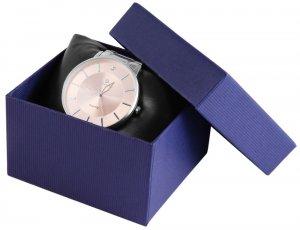 Uhrenbox Karton Blau 7,5x8,5 cm
