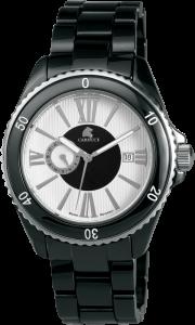 Armbanduhr Weiss Schwarz Keramik CARUCCI CA7112BK