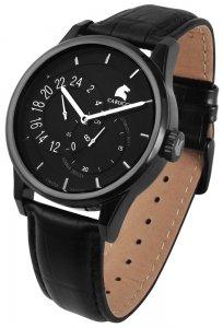 Armbanduhr Schwarz Leder CARUCCI CA2181BK-BK