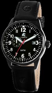 Armbanduhr Schwarz Leder CARUCCI CA2180BK-BK