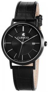 Armbanduhr Schwarz Leder CARUCCI CA2183BK-BK