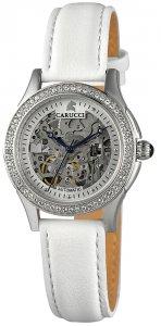Armbanduhr Silber Weiss Leder CARUCCI CA2212SL