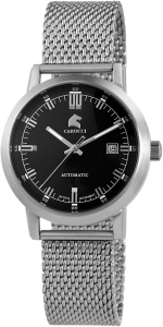 Armbanduhr Schwarz Silber Metall CARUCCI CA2195ST-BK