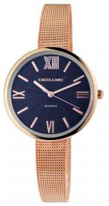 Armbanduhr Blau Rosé Metall Excellanc 1300001
