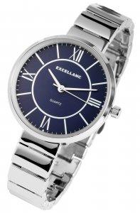 Armbanduhr Blau Silber Metall Excellanc