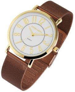 Armbanduhr Silber Gold Braun Metall Excellanc