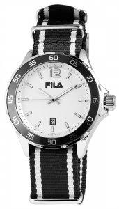 Armbanduhr Weiss Schwarz Textil FILA 38-822-003