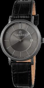 Armbanduhr Schwarz Grau Titan Leder CARUCCI CA2192GR