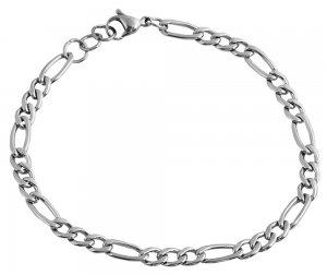 Armband Silber Edelstahl Akzent 18cm