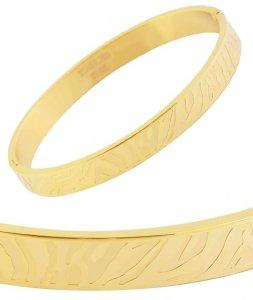 Armreifen Gold Edelstahl Akzent 63mm