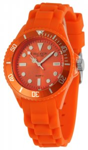 Armbanduhr Orange Silikon Madison L4167-04/3