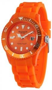 Armbanduhr Orange Silikon Datum Madison U4167-04