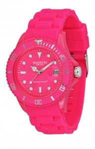 Armbanduhr Pink Silikon Datum Madison U4503-48-1