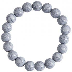 Kugelarmband Hellblau/Grau 17cm