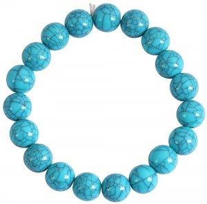 Kugelarmband Blau/Türkis 17cm