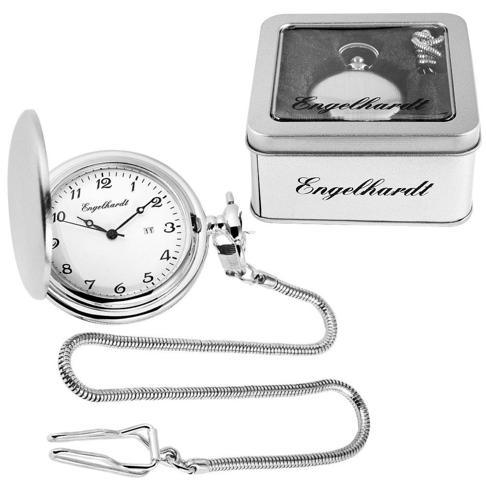 Taschenuhr Silbern mit Datum Engelhardt 485922000001