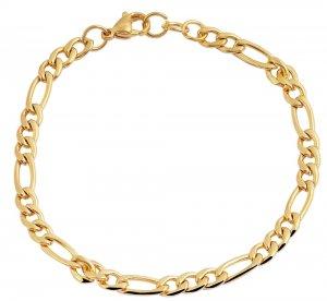 Armband Gold Edelstahl Akzent 18cm