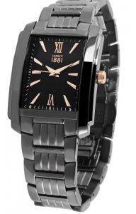 Armbanduhr Schwarz Rosé Edelstahl CERRUTI CRB041F221C