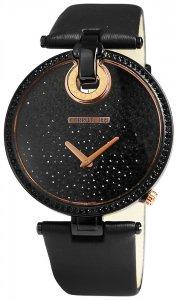 Armbanduhr Schwarz Rosé Leder CERRUTI CCRWM036T222A