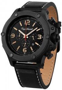 Armbanduhr Schwarz Leder Engelhardt 387771029020