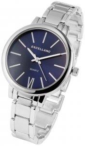 Armbanduhr Blau Silber Metall Excellanc 1800038