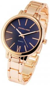 Armbanduhr Blau Rosé Metall Excellanc 1800038