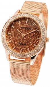 Armbanduhr Rosé Crystal Metall Excellanc 1800055