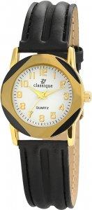 Armbanduhr Weiss Gold Schwarz Classique