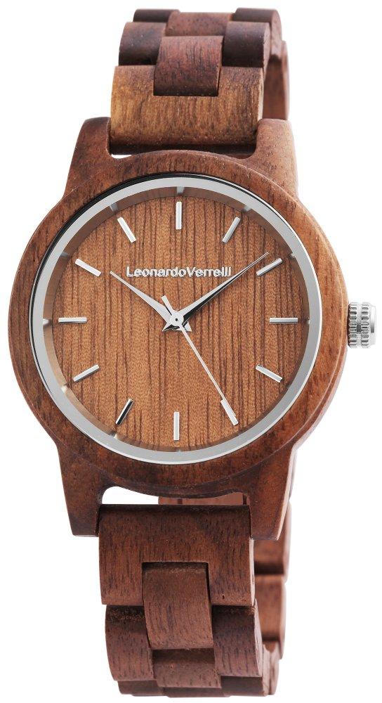 Armbanduhr Holz Walnuss Braun Leonardo Verrelli 2800025
