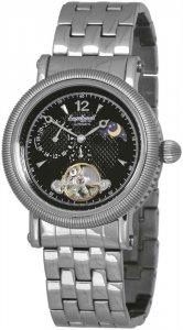 Armbanduhr Schwarz Silber Edelstahl Engelhardt 385721028030