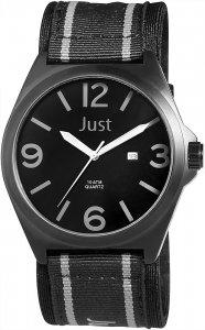 Armbanduhr Grau Schwarz Textil JUST JU20116