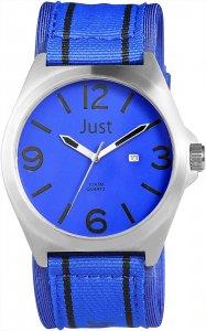Armbanduhr Blau Silber Schwarz Textil JUST JU20116