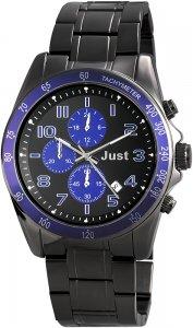 Armbanduhr Blau Schwarz Metall JUST JU20082