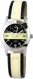 Armbanduhr Schwarz Gelb Kunstleder JUST JU10164