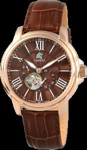 Armbanduhr Braun Rosé Leder CARUCCI CA2205RG