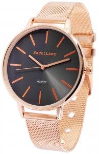 Armbanduhr Grau Schwarz Rose Metall Excellanc 1800049