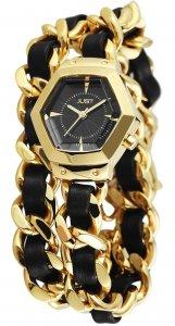 Armbanduhr Schwarz Gold Wickelarmband JUST 10077