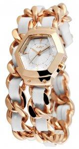 Armbanduhr Silber Rosé Weiss Wickelarmband JUST 10077