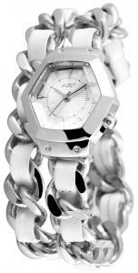 Armbanduhr Silber Grau Wickelarmband JUST 10077