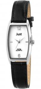 Armbanduhr Perlmutt Silber Schwarz Kunstleder JUST JU10065