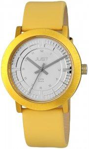 Armbanduhr Silber Gelb Kunstleder JUST 48-S9627