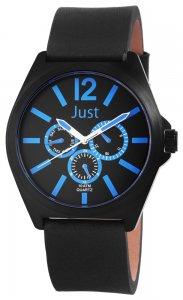 Armbanduhr Blau Schwarz Leder JUST JU20117