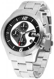 Armbanduhr Silber Schwarz Metall FILA 38-001-001