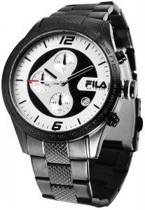 Armbanduhr Silber Schwarz Metall FILA 38-001-003