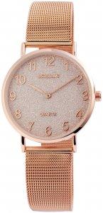 Armbanduhr Rosé Crystal Metall Excellanc 1800079