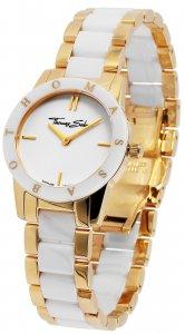 Armbanduhr Weiß Gold Metall Keramik Thomas Sabo WA0193