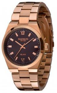 Armbanduhr Braun Rosé Metall Madison L4793D2 GLAMOR® Fernanda Rosegold