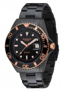 Armbanduhr Schwarz Rose Metall Madison G4790A3 GLAMOR® William